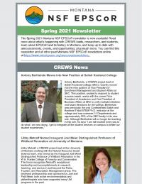 Cover of the Spring 2021 MT NSF EPSCoR Newsletter